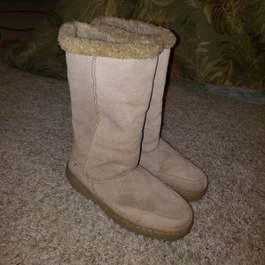 Rampage Tan Suede Leather Boots